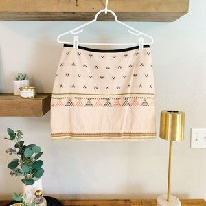 Madewell Aztec Print Skirt